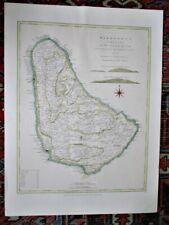 "Vintage MAP, BARBADOES, Originally Created 1775, Thom.JEFFREYS, 22""x29 1/2"""