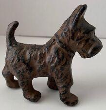 Scottish Terrier Scottie Dog Cast Iron Miniature Statue Paperweight