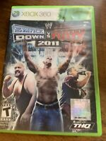 WWE SmackDown vs. Raw 2011 Xbox 360. No Manual. Cleaned