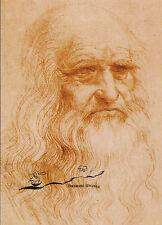 Kunstpostkarte  -  Leonardo da Vinci:  Selbstbildnis