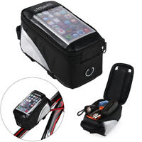 Bicycle Bike Frame Bag Cycling Front Tube Waterproof Holder Bag for Cell Phone