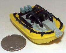 Small Micro Machine Plastic Zodiac with three Outboad Motors