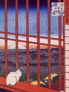 UTAGAWA HIROSHIGE JAPANESE POSTER OTORI SHRINE OLD ART PAINTING PRINT 2708OM
