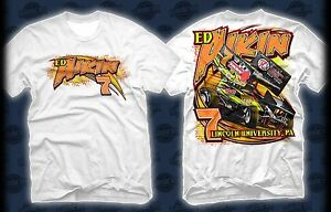 Ed Aikin 2014 #7 TAN Racing Collectibles URC Sprint White Team Shirt FREE SHIP!