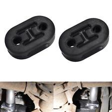 2Pcs Exhaust Mount Rubber Insulator Grommet Hanger Bushing Support Bracket Black