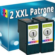 2 x DRUCKER PATRONEN für LEXMARK Nr. 1 X2310 X2315 X2330 X2350 X2450 X2470 X3450