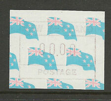 New Zealand 1988 FRAMA Flag Paper Testing Label MNH