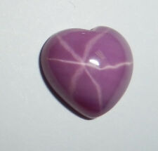 Opaque Star Ruby Heart 12x12 mm Flat Cabochon 6 Rayed Lab-created Stone