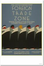 Foreign Trade Zone - Ships WPA Vintage Art Print   NEW POSTER