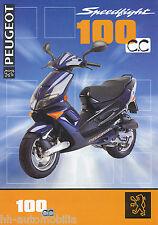 Peugeot Speedfight 100 Motorroller Prospekt 11/97 brochure 1997 Broschüre Roller