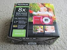 New Fujifilm FinePix JZ100 14.0MP Digital Camera 8x Optical HD Video +4GB & Case