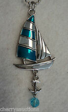 Sailboat Sail Boat anchor sailing NAUTICAL Car Charm Rear View Mirror Ornament