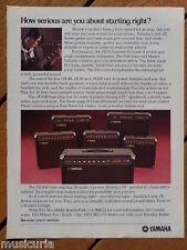 retro magazine advert 1983 YAMAHA jx amplifiers
