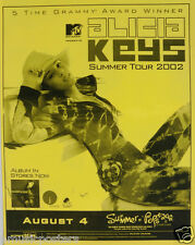 Alicia Keys San Diego Summer Concert Tour 2002 Poster - Beautiful Hip Hop Music!