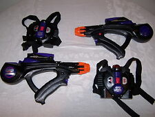 Lazer Tag Stinger 2 gun set with chest packs - Tested and working, 1998 Laser