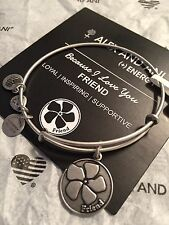 """Alex and Ani ~ """"Because I Love You FRIEND"""" Charm Bangle in Silver Tone"""