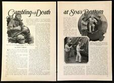 "Uss S-4 1928 Divers pictorial Crilley Eadie ""Gambling With Death at Sea Bottom"""