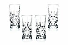Melodia Hiball Glasses 12.25 Oz, Crystal Cut, Party Glassware Set of (4)