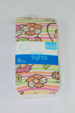 TCP The Childrens Place Girls Size 6-7 Striped Tights Pink Orange Green New