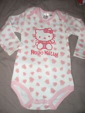 body manches longues hello kitty   taille 18 mois neuf