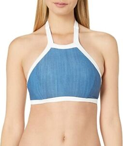 """Seafolly Women's Block Party D Triangle Bra Bikini Top Swimsuit """