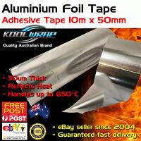 Silver Aluminium Foil Adhesive Duct Tape Reflective Heat Shield 10m X50mm X30um