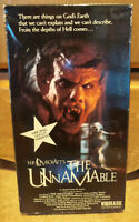The Unnamable VHS Uncut Vidmark Video release H.P. Lovecraft Horror 1988