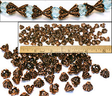 7mm Solid Copper Turkish Bali Style Fancy Open Work Filigree Cone Beads 75pc