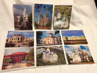 Lot of 9 Zaporizhia Ukraine 2005 Tourist Travel Postcards Cathedrals Excellent