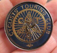 CYCLISTS TOURING CLUB vintage metal acrylic Cycling pin BADGE
