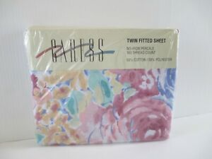 Vintage 1993 Caress Twin Fitted Percale Sheet NEW