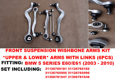 BMW 5 Series E61 Front Suspension Wishbones Control Arms & Drop Links KIT