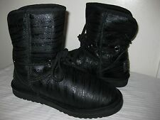 Australia Love Collective Fashion  Ankle Black Winter Boots Women Shoes Size 9