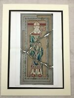 1857 Print Abbey of St Vaast Mosaic Tiles Crypt Tomb Antique Chromolithograph