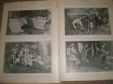 Printed photos scenes from J M Barrie The Admirable Crichton 1902 ref Z