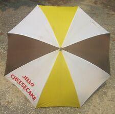 "JELL-O CHEESECAKE -- Advertising Umbrella, Parasol -- 44"" Diameter, Wood Handle"
