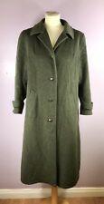 Vintage H Moser Tyroler Loden Womens Ladies Wool Coat Green Winter Military 18