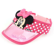 Disney Minnie Mouse Pink Ribbon Sun Cap Summer Outdoor Adjustable Hat Kid Girl