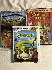 Shrek 1 2 & 3 Dvd Lot