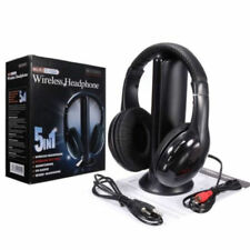 5IN1 Wireless Headphone Casque Audio Sans Fil Ecouteur Hi-Fi Radio FM TV MP3 MP4