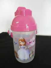 """Disney Sophia 6"""" Drink Container, Built In Straw & Strap, Nwot"""