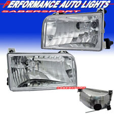Set of Pair Euro Clear Headlights for 1992-1996 Ford F-150 F-250 F-350 Bronco