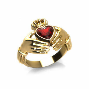 Yellow Gold Plated Heart Cut Natural Gemstone Unique Ring Valentine's Gift Ring