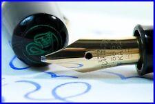 1951 PELIKAN 100 N green-marbled Pen with RARE semi-flex BB Nib in 14K 585 Gold