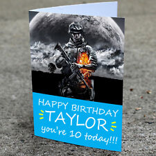 Call of Duty Birthday Card Professionally printed and personalised to your needs