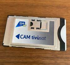 Italian TV in UK Tivu Sat Cam & Tivusat Smart Card - ALREADY ACTIVE -