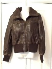 Lovely Miso Leather Look Jacket Size 14