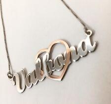 Collana Con Nome Personalizzabile In Argento925%Rodiato Placato Oro Giallo Rosa
