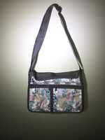 LeSportsac Deluxe Everyday Bag Shoulder Crossbody Purse Expands HEARTS - Nice