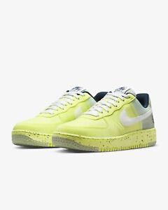 """Nike Air Force 1 Crater """"Lemon Twist"""" White Blue DH2521-700 Men's Shoes Size 11"""
